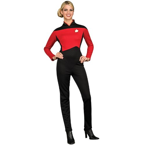Secret Wishes Star Trek the Next Generation Woman's Deluxe Red Jumpsuit