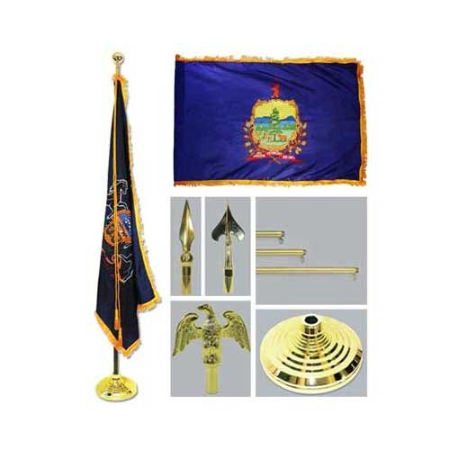 Vermont 4Ft X 6Ft Flag Telescoping Flagpole Base And Tassel