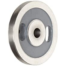 "Boston Gear Plain Grooved Pulley for Round Belts 0.375"" or Smaller, Iron"