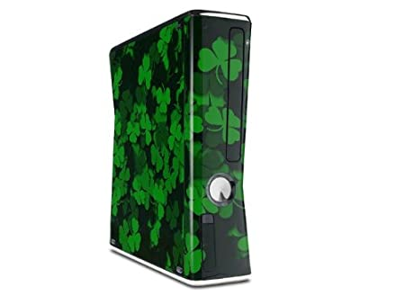 St Patricks Clover Confetti Decal Style Skin for XBOX 360 Slim Vertical