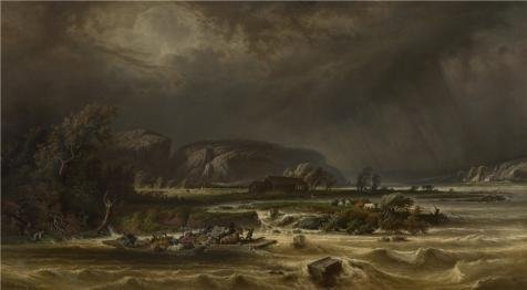 the-high-quality-polyster-canvas-of-oil-painting-the-meuse-at-polivache-by-ferdinand-joseph-bernard-