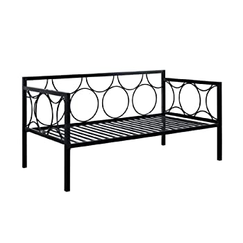 DHP Rebecca Metal Daybed, Twin, Black