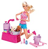Barbie Suds and Hugs Pups Playset