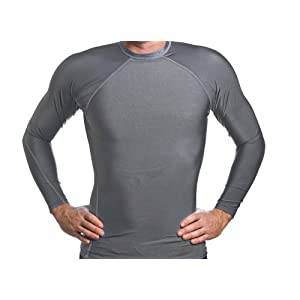 Men's SPF 50+ Gun Metal Grey Long Sleeve Rash Guard