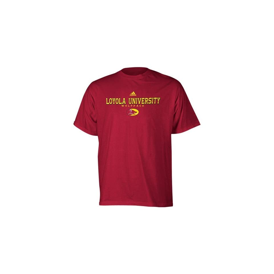 check out 6077f 2c5e5 adidas Loyola New Orleans Wolfpack Maroon True Basic T shirt ...