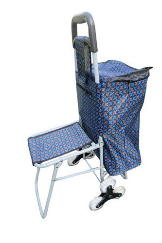 """Amaze"" Shopping Trolley Bag with SPECIAL WHEELS- STAR (With Folding Chair)"