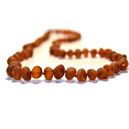 The Art of Cure Baltic Amber Teething Necklace for Baby (Raw Cognac) - Anti-inflammatory