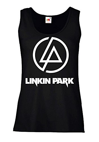 """Canotta Donna """"Linkin Park - Logo"""" - 100% cotone LaMAGLIERIA, XL, Nero"""