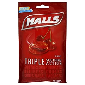halls triple action soothing cough drops cherry 40 ct. Black Bedroom Furniture Sets. Home Design Ideas