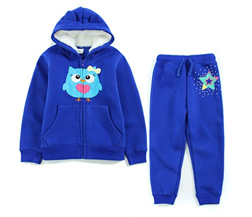 Neighbor Girl Children's Baby Female Angry Birds sweatshirts Hooded 2pcs Set (2-7 Years) (Hollween Costumes Ideas)