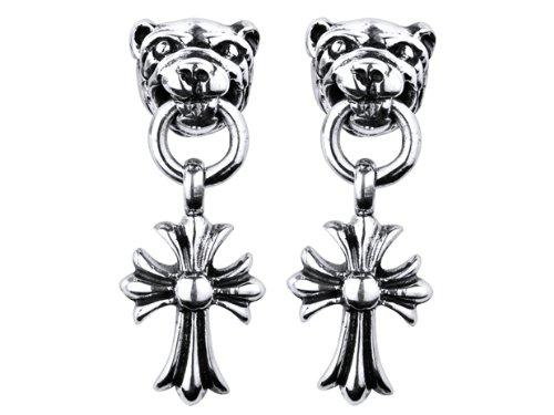 A&G Rock Panda and Cross Dangle Earring