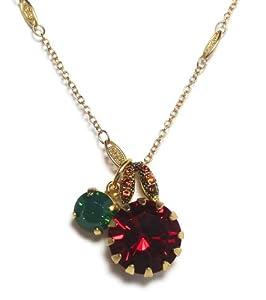 "Amazon.com: Mariana Gold Plated ""Poppy"" Swarovski Crystal Round"