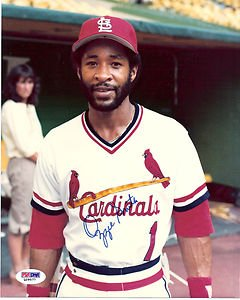 OZZIE SMITH AUTOGRAPHED 8 X 10 CARDINALS PHOTO POSE PSA  DNA by Bud