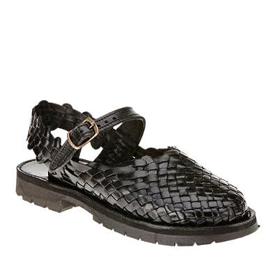 Amazon.com: Brand X Women's Mary Jane Huarache Sandals, Tan, 8 W/D