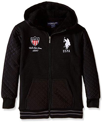 us-polo-assn-big-boys-sherpa-lined-taslon-and-fleece-jacket-black-14-16