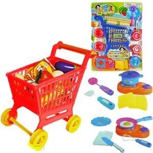 mini shopping cart playsets toy for kids toys games. Black Bedroom Furniture Sets. Home Design Ideas