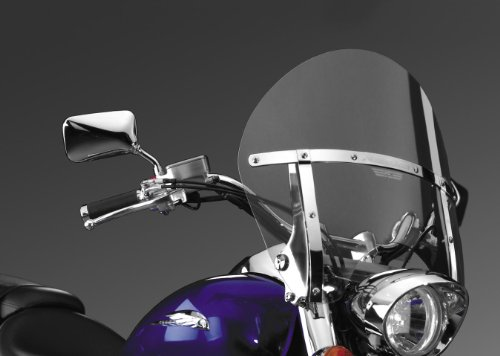National Cycle Switchblade Chopped Windshield For Honda Vt1100C2 Shadow Sabre 2000-2007 / Vt750C Shadow Aero 2004-2009 / Vt750C/Cd Shadow Ace 1998-2003 / Vt750C2A Shadow Phantom/Black Spirit 2010-Up - Clear - N21403