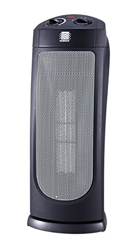 PD0X9 OceanAire HPQ15G-M Warmwave Oscillating Tower Ceramic Heater (Electric Heater, Space Heater, Portable Heater)