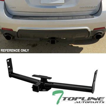 "Topline Autopart Class 3 III Trailer Towing Hitch Mount Receiver Rear Bumper Utility Tow Kit 2"" For 05-16 Chevy Equinox 10-16 GMC Terrain 06-09 Pontiac Torrent 02-07 Saturn Vue SUV AWD"