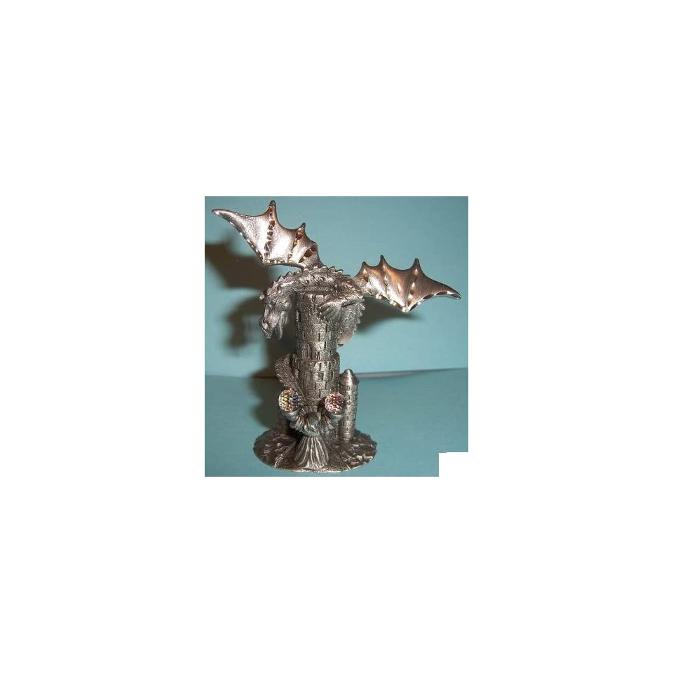 Spoontiques Pewter Dragon, Wizard and Castle on PopScreen