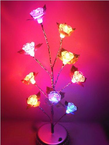Domire Mini (Colorful) Rose Tree Usb / Battery Led Light Lamp Home Desk Festival Christmas Decoration Colorama Ornaments