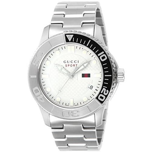 [グッチ]GUCCI 腕時計 G-TIMELESS シルバー文字盤 100m防水 デイト YA126252 メンズ 【並行輸入品】