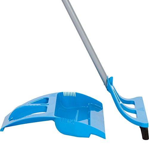 WISPsystem Best 90 Degree Angle One-Handed Broom with Dustpan and Telescoping Handle w/Bristle Seal Technology (Blue) (Metal Dust Pan Broom compare prices)