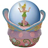 65 mm Tinker Bell Pixie Standing In Water Globe With Butterfly Stand