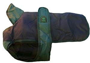 Outhwaite Padded Coat and Underbelly Dog Coat, 22-inch, Blue/ Green