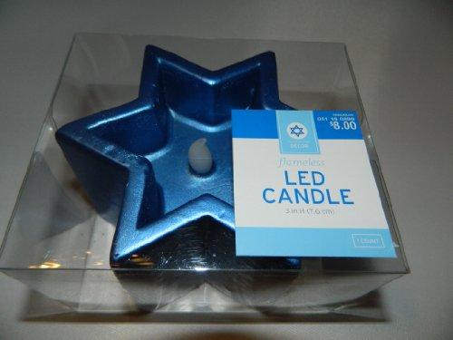 "Blue Star Led Flameless Candle - Hanukkah - 3"" Tall X 4.75"" Across - Target"