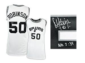 David Robinson San Antonio Spurs Autographed White Custom Jersey - Memories - Mounted... by Sports Memorabilia