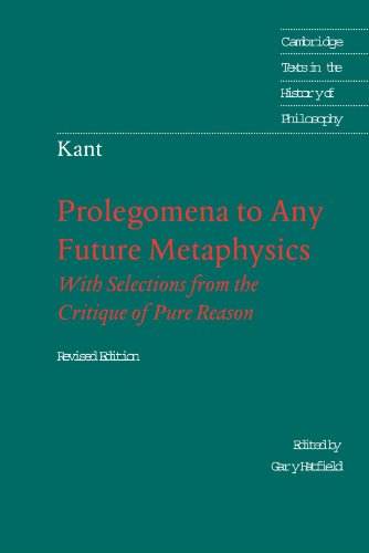 Prolegomena to Any Future Metaphysics: That Will Be Able...
