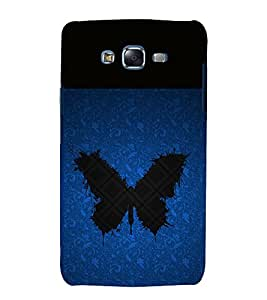 printtech Butterfly Moth Abstract Pattern Back Case Cover for Samsung Galaxy J7 (2016 )