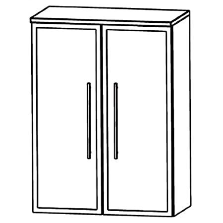 Puris Swing (HBA516B7 Bathroom Cabinet 60 CM