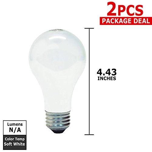 Ge 60-Watt Light Bulbs, Long Life front-205095