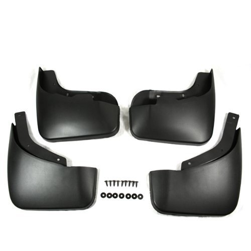 Black Auto parts 4PCS Mudguard Splash Guard Mud Flap Fit For 2007 2008 2009 2010 AUDI Q7