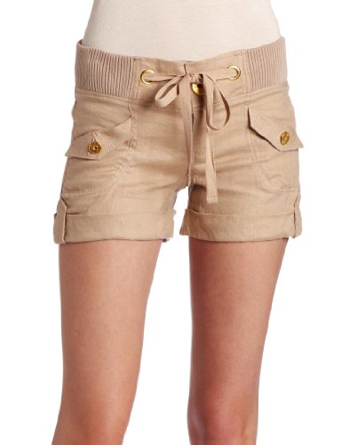 XOXO Juniors Khaki Linen Short