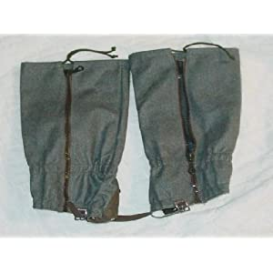 Swiss Wool Gaiters Complete Waterproof w/ Zipper