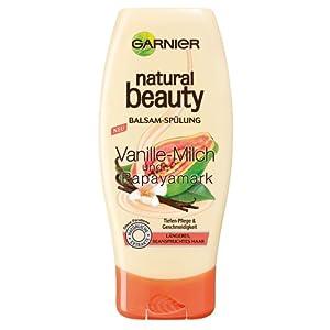 Garnier Natural Beauty Vanille-Milch & Papayamark Aufbau-Spülung, 200 ml