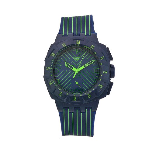 Swatch Ladies Watch Chrono Plastic 2 Fast Run SUIN401