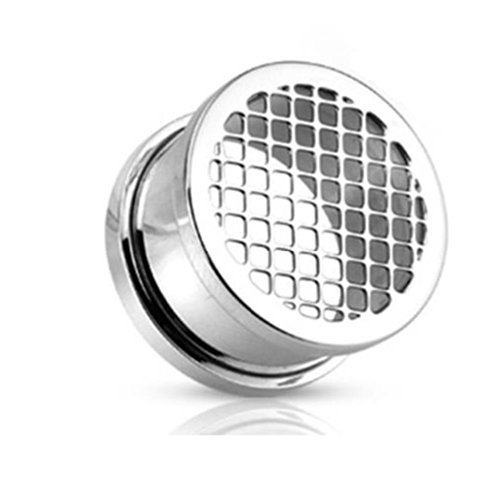 Coolbodyart Stainless Steel Screw Tunnel With Grid Plastic 14 Silver