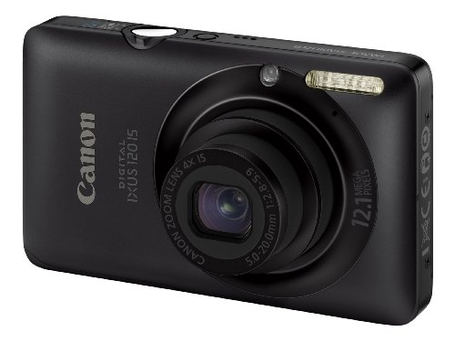 Canon Digital IXUS 120 IS Digital Camera - Black (12.1 Megapixel, 4x Optical Zoom) 2.7 inch LCD