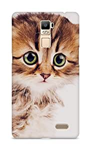 Amez designer printed 3d premium high quality back case cover for Oppo R7 Plus (Sad kitten cat animal nature cute)