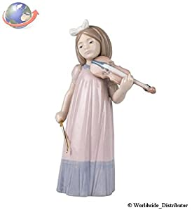"Nao by Lladro Collectible Porcelain Figurine: GIRL WITH VIOLIN - 7-1/2"" tall"