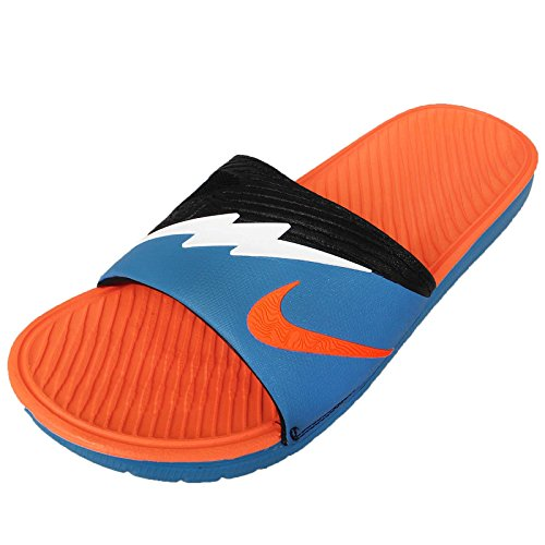 Nike Men's Solarsoft KD Slide 2 , VIVID BLUE/WHITE-TTL ORANGE-BLACK, 11 M US (Nike Slides Orange And Black compare prices)