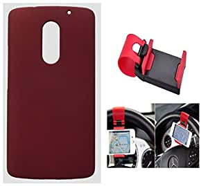 Toppings Hard Case Cover With Car Steering Wheel Socket For Lenovo Vibe X3 - Red
