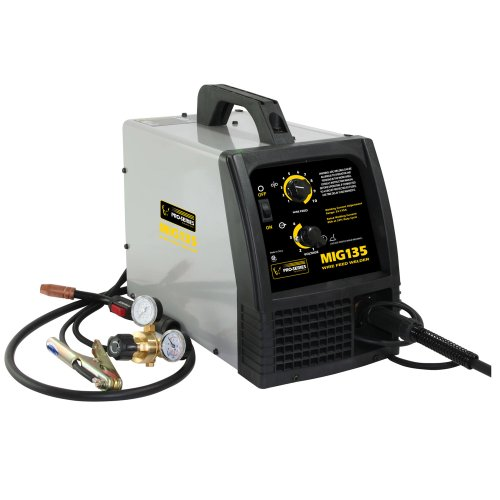 41gN wT11SL Pro Series PS07570 115 Volt MIG Welder, Black and Gray
