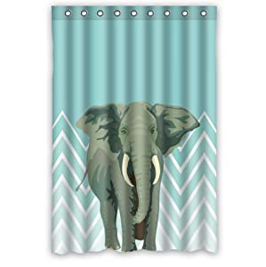 Blue and white chevron background elephant for Elephant bathroom accessories