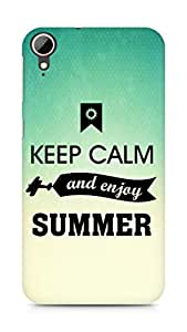Amez Keey Calm and Enjoy Summer Back Cover For HTC Desire 828