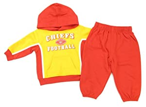 Kansas City Chiefs Infant Toddler Hooded Sweatshirt and Pants by NFL-Kids